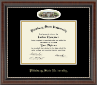 Pittsburg State University Diploma Frame - Campus Cameo Diploma Frame in Chateau