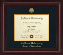Indiana University - Purdue University at Indianapolis Diploma Frame - Presidential Gold Engraved Diploma Frame in Premier