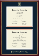 Pepperdine University Diploma Frame - Double Diploma Frame in Galleria