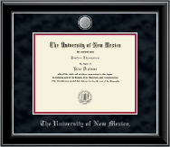 The University of New Mexico Diploma Frame - Silver Medallion Edition Diploma Frame in Onyx Silver