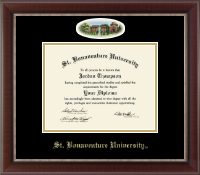 St. Bonaventure University Diploma Frame - Campus Cameo Diploma Frame in Chateau
