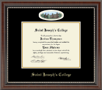 Saint Joseph's College in Indiana Diploma Frame - Campus Cameo Diploma Frame in Chateau