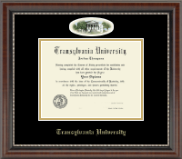Transylvania University Diploma Frame - Campus Cameo Diploma Frame in Chateau