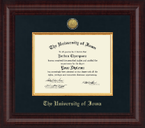 The University of Iowa Diploma Frame - Presidential Gold Engraved Diploma Frame in Premier
