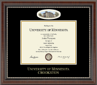 University of Minnesota Crookston Diploma Frame - Campus Cameo Diploma Frame in Chateau