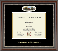 University of Minnesota Twin Cities Diploma Frame - Campus Cameo Diploma Frame in Chateau
