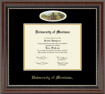 University of Montana Missoula Diploma Frame - Campus Cameo Diploma Frame in Chateau
