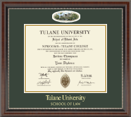 Tulane University Diploma Frame - Campus Cameo Diploma Frame in Chateau
