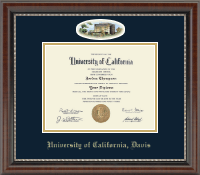 University of California Davis Diploma Frame - Campus Cameo Diploma Frame in Chateau