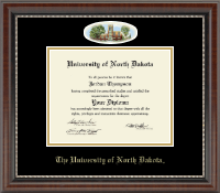 University of North Dakota Diploma Frame - Campus Cameo Diploma Frame in Chateau