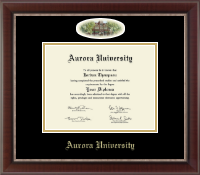 Aurora University Diploma Frame - Campus Cameo Diploma Frame in Chateau