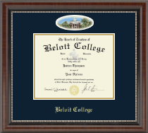Beloit College Diploma Frame - Campus Cameo Diploma Frame in Chateau