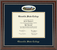 Glenville State College Diploma Frame - Campus Cameo Diploma Frame in Chateau