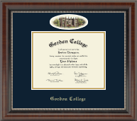 Gordon College in Massachusetts Diploma Frame - Campus Cameo Diploma Frame in Chateau