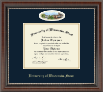 University of Wisconsin-Stout Diploma Frame - Campus Cameo Diploma Frame in Chateau