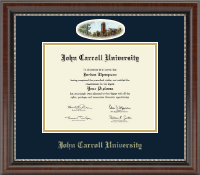 John Carroll University Diploma Frame - Campus Cameo Diploma Frame in Chateau