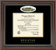Wesleyan University Diploma Frame - Campus Cameo Diploma Frame in Chateau
