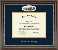 Mars Hill College Diploma Frame - Campus Cameo Diploma Frame in Chateau