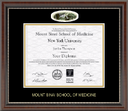 Mount Sinai School of Medicine Diploma Frame - Campus Cameo Diploma Frame in Chateau
