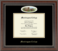 Muskingum College Diploma Frame - Campus Cameo Diploma Frame in Chateau