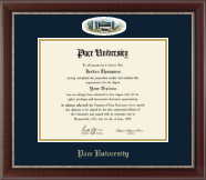 Pace University Diploma Frame - Campus Cameo Diploma Frame in Chateau