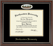 Northeastern University Diploma Frame - Campus Cameo Diploma Frame in Chateau