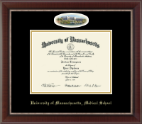 University of Massachusetts Medical School at Worcester Diploma Frame - Campus Cameo Diploma Frame in Chateau