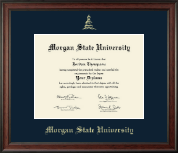 Morgan State University Diploma Frame - Gold Embossed Diploma Frame in Studio