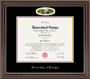 The University of Georgia Diploma Frame - Campus Cameo Diploma Frame in Chateau