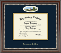 Lycoming College Diploma Frame - Campus Cameo Diploma Frame in Chateau