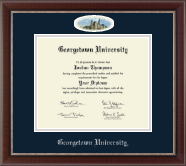 Georgetown University Diploma Frame - Campus Cameo Diploma Frame in Chateau
