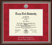 Texas Tech University Diploma Frame - Silver Engraved Medallion Diploma Frame in Devonshire