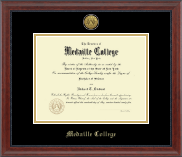 Medaille College Diploma Frame - Gold Engraved Medallion Diploma Frame in Signature