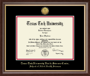 Texas Tech University Health Sciences Center Diploma Frame - Gold Engraved Medallion Diploma Frame in Hampshire
