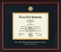 Texas Tech University Health Sciences Center Diploma Frame - Presidential Gold Engraved Diploma Frame in Premier