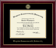 Virginia Commonwealth University Diploma Frame - Gold Embossed Diploma Frame in Gallery