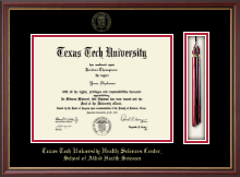 Texas Tech University Health Sciences Center Diploma Frame - Tassel Edition Diploma Frame in Newport