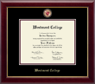 Westmont College Diploma Frame - Masterpiece Medallion Diploma Frame in Gallery