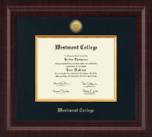 Westmont College Diploma Frame - Presidential Gold Engraved Diploma Frame in Premier