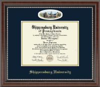 Shippensburg University Diploma Frame - Campus Cameo Diploma Frame in Chateau