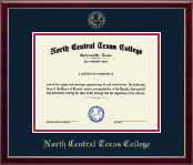 North Central Texas College Diploma Frame - Gold Embossed Diploma Frame in Galleria