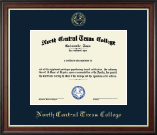 North Central Texas College Diploma Frame - Gold Embossed Diploma Frame in Studio Gold