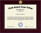 North Central Texas College Diploma Frame - Century Gold Engraved Diploma Frame in Cordova