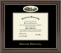 Kutztown University Diploma Frame - Campus Cameo Diploma Frame in Chateau