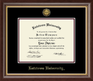 Kutztown University Diploma Frame - Gold Engraved Medallion Diploma Frame in Hampshire