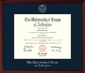 The University of Texas Arlington (UTA) Diploma Frame - Silver Embossed Diploma Frame in Camby
