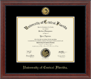 University of Central Florida Diploma Frame - Gold Engraved Medallion Diploma Frame in Signature