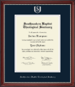 Southeastern Baptist Theological Seminary Diploma Frame - Silver Embossed Diploma Frame in Kensington Silver