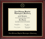 New Orleans Baptist Theological Seminary Diploma Frame - Gold Embossed Diploma Frame in Kensington Gold