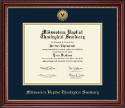 Midwestern Baptist Theological Seminary Diploma Frame - Gold Engraved Medallion Diploma Frame in Kensington Gold